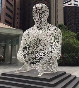 rzeźby metalowe sylwetka