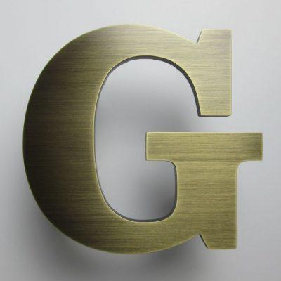 litery metalowe - stal w wykończeniu brąz